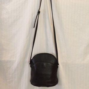 Talbots Solid Black Leather Crossbody Purse Small